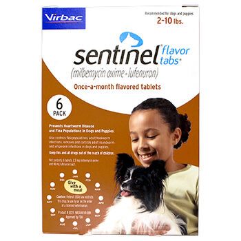 Sentinel 6pk Brown 2-10 lbs Flavor Tabs product detail number 1.0