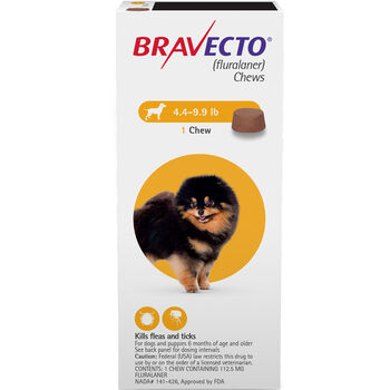 Bravecto Chews 2 Dose Toy Dog 4.4-9.9 lbs product detail number 1.0