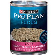 Purina Pro Plan Adult Sensitive Skin & Stomach Salmon & Rice Entrée Wet Dog Food-product-tile