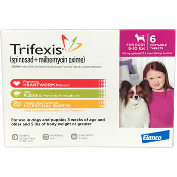 Trifexis 6pk Dog 5-10 lbs product detail number 1.0