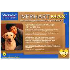 Iverhart Max Chewable Tablets For Dogs 50.1-100lbs 6pk-product-tile