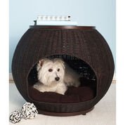 Refined Canine Igloo Deluxe Luxury Wicker Pet Bed