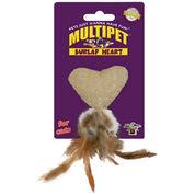 Burlap Heart Catnip Toy