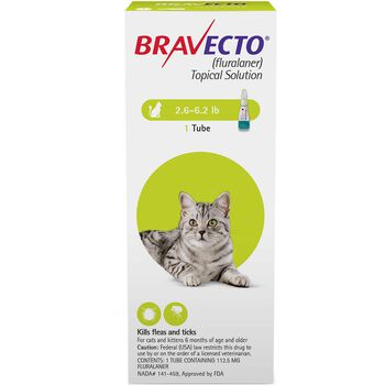 Bravecto for Cats  2.6-6.2 lbs 2 dose product detail number 1.0