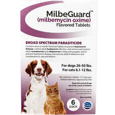 MilbeGuard - Generic to Interceptor 6 pk Large Dogs 26-50 lbs or Cats 6.1-12 lbs-product-tile