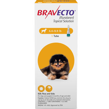 Bravecto Topical for Dogs Toy Dog 4.4-9.9 lbs 2 dose product detail number 1.0