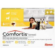 Comfortis 6pk Dogs 3.3-4.9 lbs or Cats 2-4 lbs