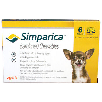 Simparica 6pk 2.8-5.5 lbs product detail number 1.0