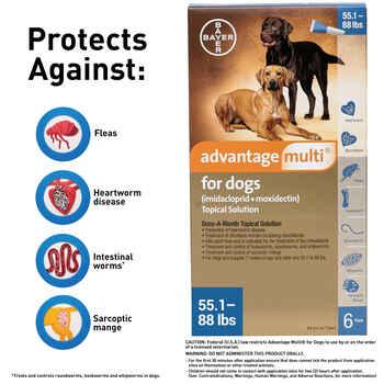 Advantage Multi 12pk Dogs 3-9 lbs