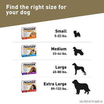 Frontline Gold 3 pk Dog Small 5-22 lbs