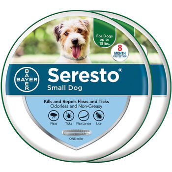 """Seresto Small Dogs up to 18 lbs 15"""" collar length 2 pk Bundle product detail number 1.0"""