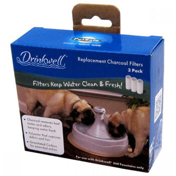 Drinkwell 360 Pet Fountain Charcoal Replacement Filters 3pk