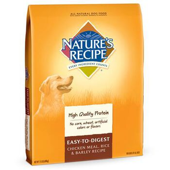 Nature's Recipe Easy to Digest Chicken Meal, Rice & Barley Dry Dog Food image number 1.0