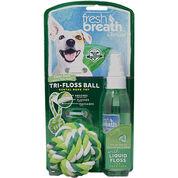 TropiClean Fresh Breath Tri-Floss Rope Ball with Liquid Floss-product-tile