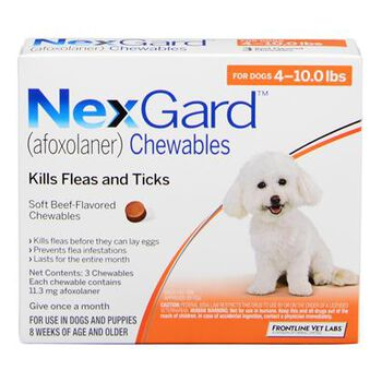 NexGard Chewables 3pk 4-10 lbs product detail number 1.0