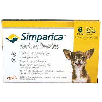 Simparica 12pk 2.8-5.5 lbs product detail number 1.0