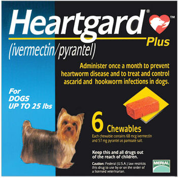 Heartgard Plus Chewables 6pk Blue 1-25 lbs product detail number 1.0