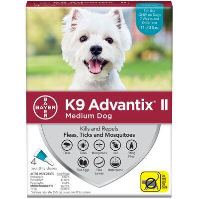 K9 Advantix II 4pk Teal Dog 11-20 lbs