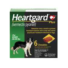 Heartgard Plus Chewables 6pk Green 26-50 lbs-product-tile