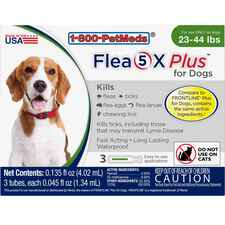 Flea5X Plus 3pk Dogs 23-44 lbs-product-tile