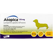 Atopica For Dogs 25 mg 30 Capsule Pk-product-tile