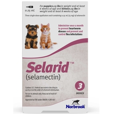 Selarid (Selamectin) Puppies/Kittens under 5 lbs 3 pk-product-tile