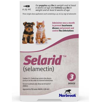 Selarid (Selamectin) Puppies/Kittens under 5 lbs 3 pk product detail number 1.0