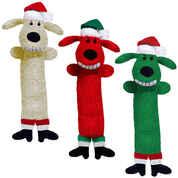 Loofa Santa Dog Toy