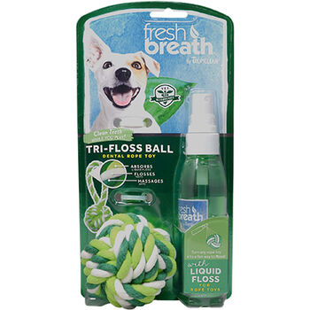 TropiClean Fresh Breath Tri-Floss Rope Ball with Liquid Floss image number 1.0
