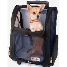 Roll Around Travel Pet Carrier - Large Black/grey-product-tile