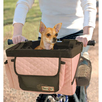 Snoozer Pet Bicycle Basket - Pink/Grey product detail number 1.0