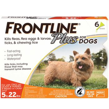 Frontline Plus 6pk Dogs 5-22 lbs product detail number 1.0