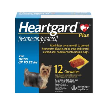 Heartgard Plus Chewables 12pk Blue 1-25 lbs product detail number 1.0
