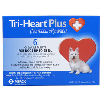 Tri-Heart Plus - Generic to Heartgard Plus 12pk Blue 1-25 lbs product detail number 1.0