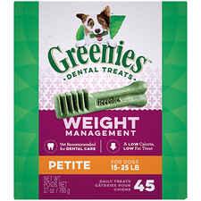 Greenies Weight Management Dental Chews Petite 27 oz 45 Treats-product-tile