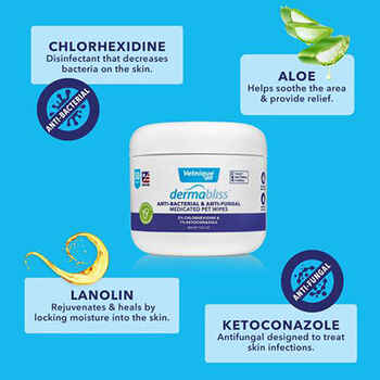 Dermabliss Anti-Bacterial & Anti-Fungal Medicated Wipes