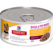 Hill's Science Diet Adult Small & Toy Breed Chicken & Barley Entrée Canned Dog Food