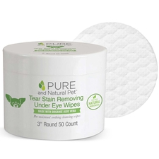 Pure and Natural Pet Tear Stain Removing Under Eye Wipes-product-tile