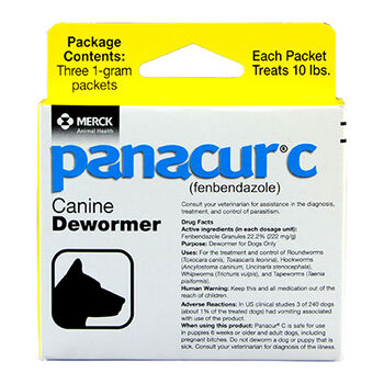 Panacur C Canine Dewormer Three 1 Gram Packages product detail number 1.0