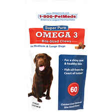 Super Pure Omega 3 Bite-Sized Chews Dogs Med & Lg 60 ct-product-tile