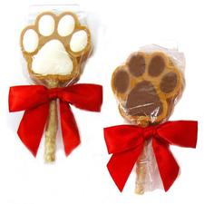 Claudia's Canine Cuisine Peanut Butter Paw Print Sucker-product-tile