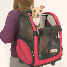 Roll Around Travel Pet Carrier - Large Red/back-product-tile
