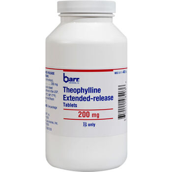 Theophylline ER 200 mg (sold per tablet) product detail number 1.0