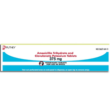 Amoxicillin Trihydrate and Clavulanate Potassium Tablets 375 mg (sold per tablet)-product-tile