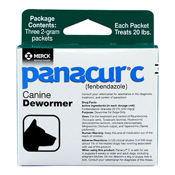 Panacur C Canine Dewormer Three 2 Gram Packages product detail number 1.0