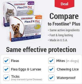 Flea 5X Plus Generic to Frontline Plus