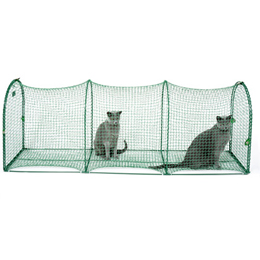 Kittywalk Portable Outdoor Cat Tunnel Usage