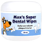 Max's Super Dental Wipes Usage